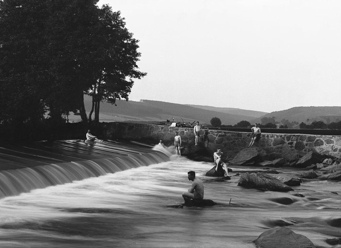 Další snímek tohoto splavu je odhaduji někdy ze šedesátých